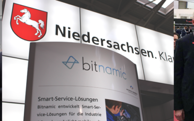 Prominent visitor at the CeBIT