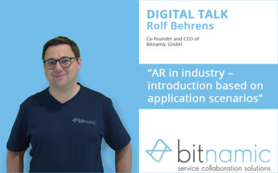 Augmented reality in industry – a lecture by Bitnamic co-founder Rolf Behrens