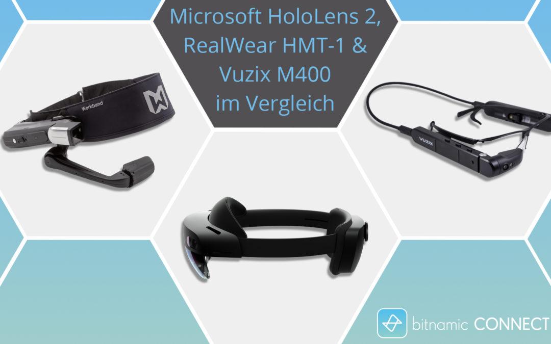 Datenbrillen für die Industrie Microsoft HoloLens 2 RealWear HMT-1 Vuzix M400