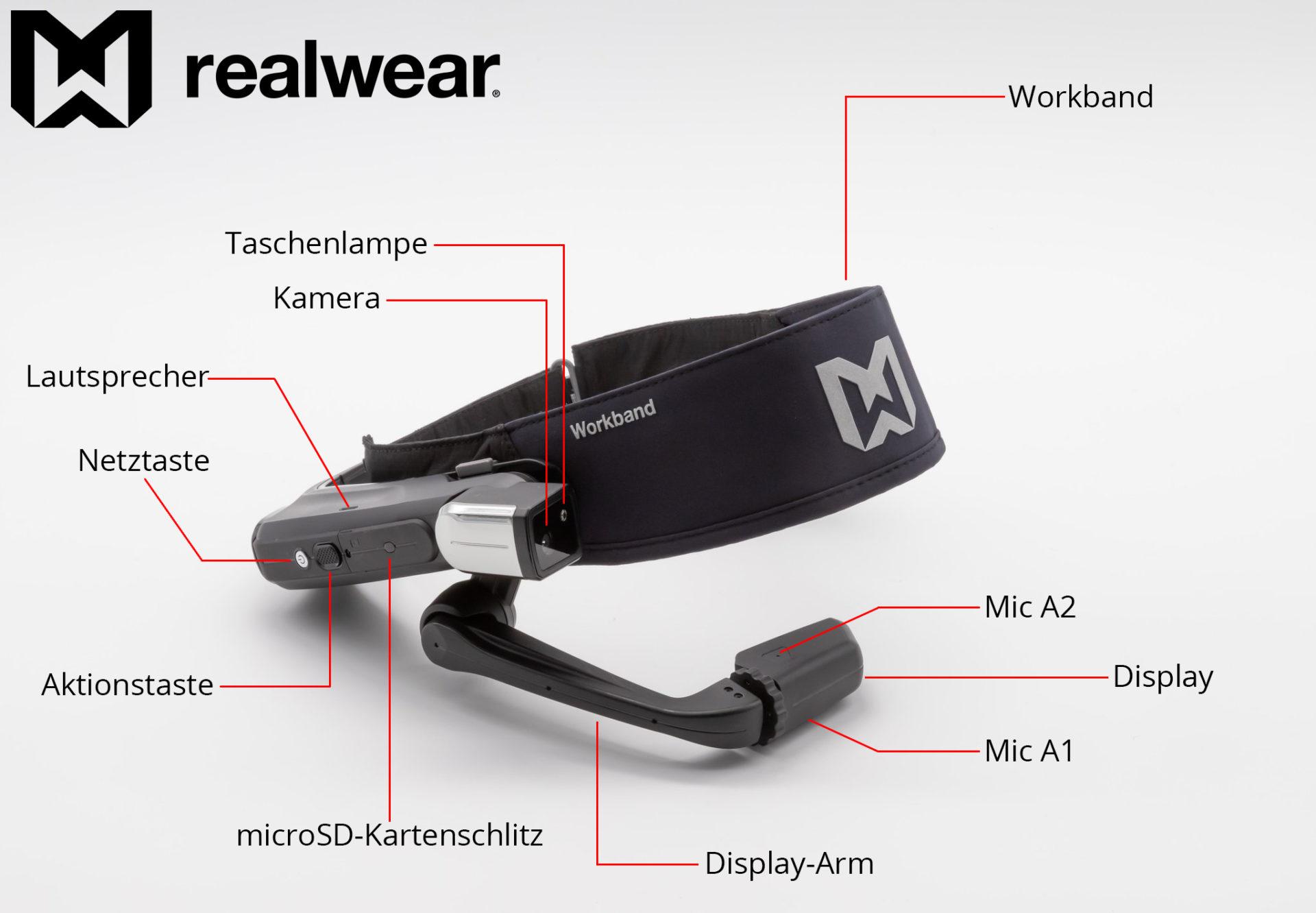 RealWear HMT-1 Hardware Übersicht