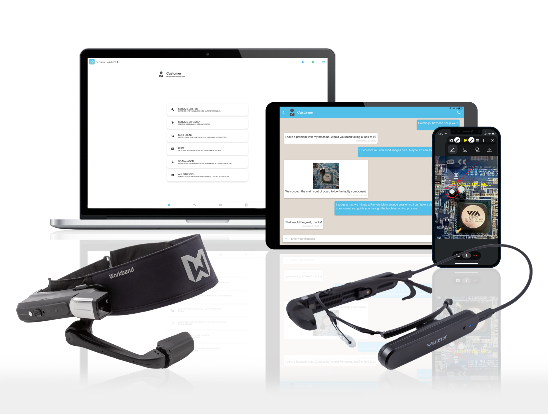 bitnamic CONNECT Augmented Reality in der Industrie